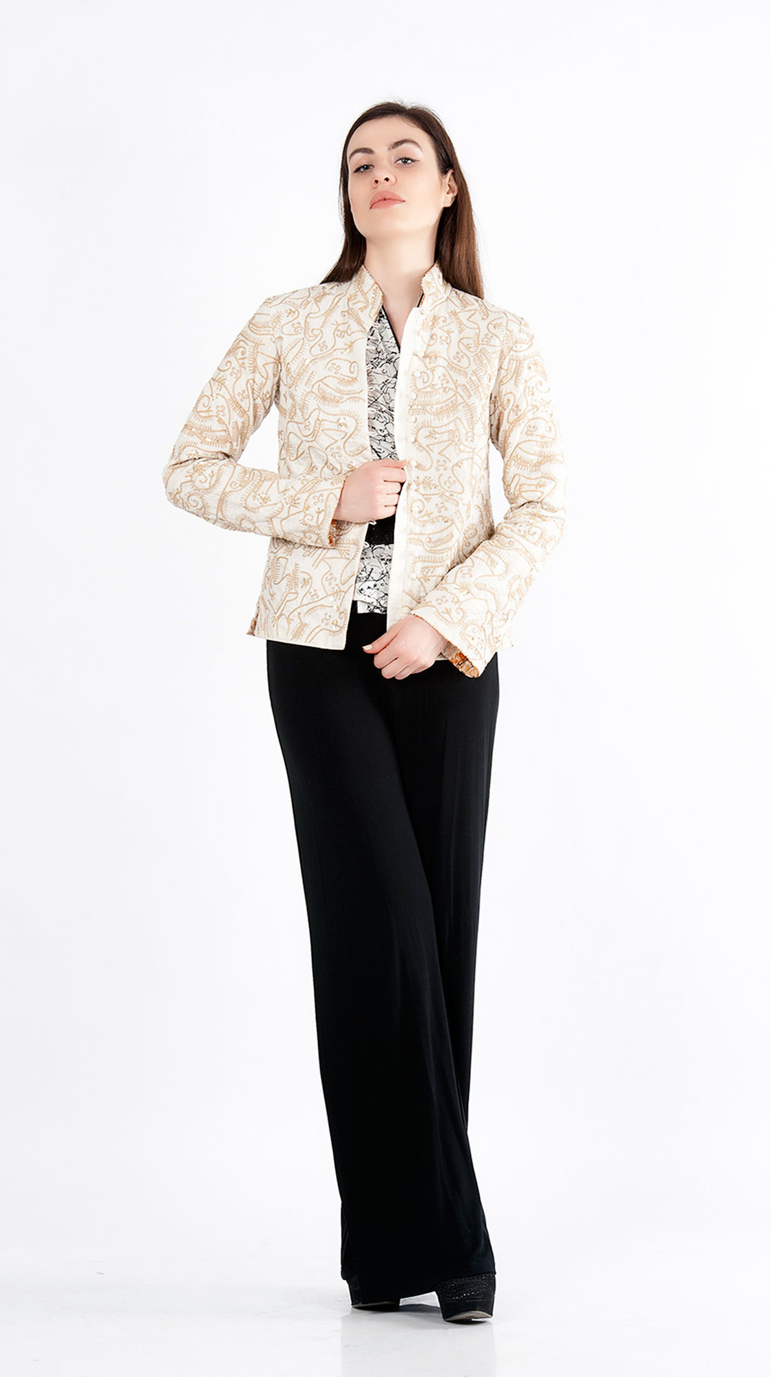 Sonam Dubal Textured Bark Jacket