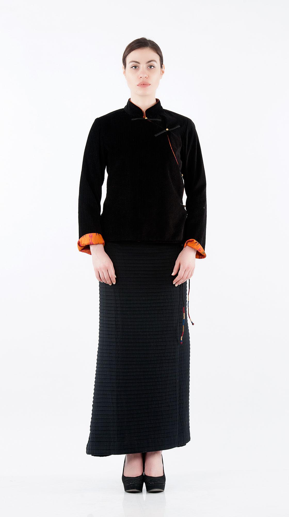 Sonam Dubal Textured Velvet Tibetan Jacket