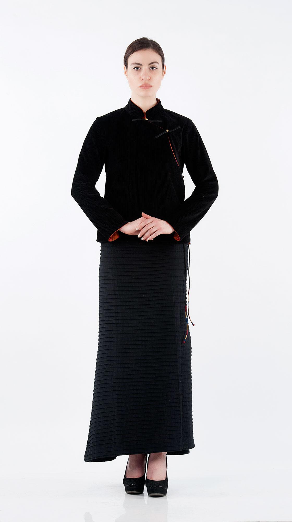 Sonam Dubal Pleated Bakhu Wrap Skirt