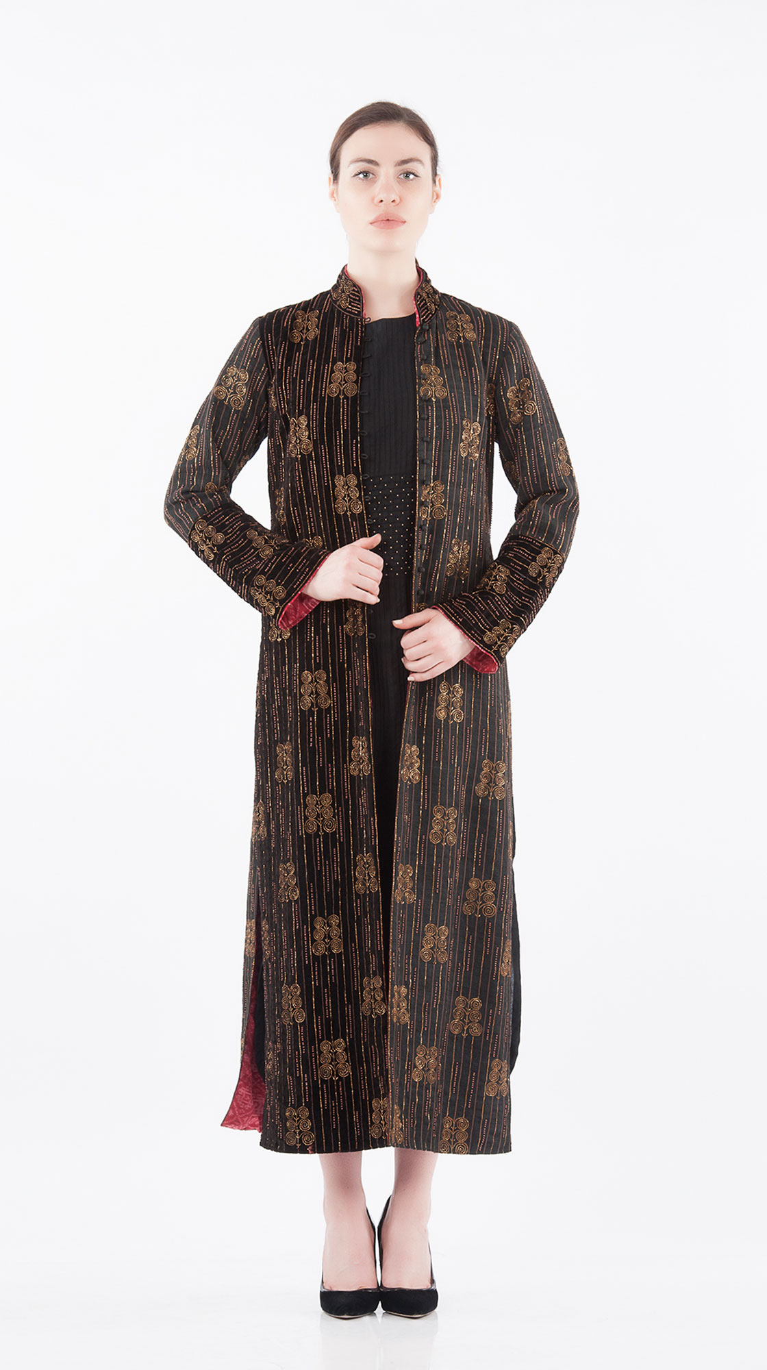 Sonam Dubal Beadwork Long Coat