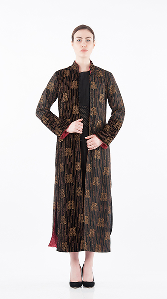 Beadwork Long Coat