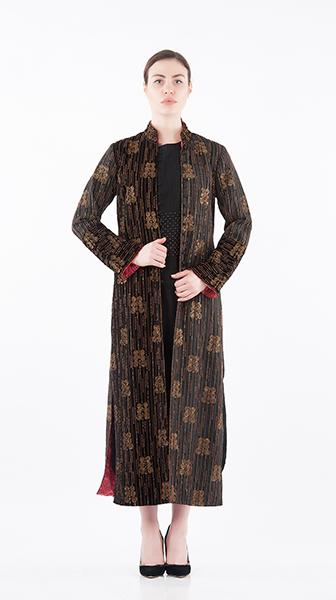 Beadwork Long Coat