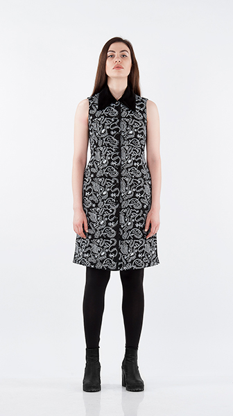 Collared Embroidered Dress